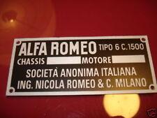 Alfa Romeo Nameplate 6C1500 6C 1500 6 C