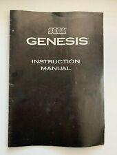 Original Sega Genesis System 2 Instruction Manual Booklet Video Game Setup
