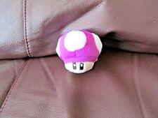 "Mario Bros. Purple Mushroom Plush Keychain  2"" Inches  (NEW)"