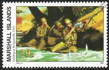WWII 1943 US MARINES LANDING AT BOUGAINVILLE (Solomon Islands) Stamp