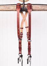 Medium Skinny Chestnut Bridle Leather HoldFast MoneyMaker Camera Harness UK