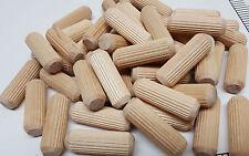 "Package of 40 individual 1-1/2"" x 1/2"" Wood multi groove dowel furniture pins"