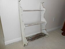Unique Old Vintage Shabby Chic Three Tiered Wall Mount Shelf Fabulous Patina!!