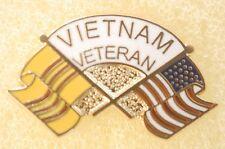 US USA Vietnam Veteran Military Hat Lapel Pin