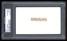Billy Burke Signed Cut Boston Doves Rustlers Autograph 1910-11 PSA/DNA Baseball