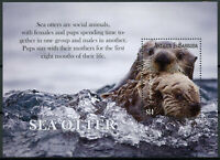 Antigua & Barbuda Wild Animals Stamps 2020 MNH Sea Otter Otters Fauna 1v S/S