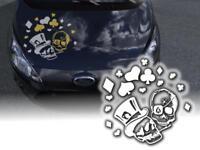 Poker Gambler Totenkopf Skull 45cm Decals JDM OEM Motorhaube Aufkleber Pkw Klebe