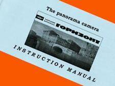 ENGLISH MANUAL for OLD Russian HORIZON HORIZONT film camera INSTRUCTION BOOKLET