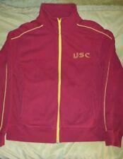 USC Trojans Vintage Campus Drive Zip Up Medium Red Stretch Jacket