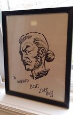 IIAHN SKETCH-HAND DRAWN & SIGNED/LUKE ROSS W/COA-MERIDIAN-CROSSGEN(~9x12) Comic Art