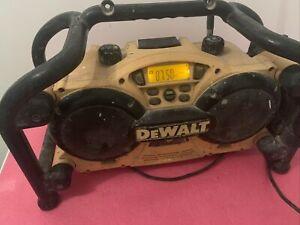 Dewalt DC011 XL 110V 7.2-18V Mains / Cordless Builders Site Radio With Battery
