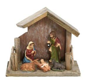 Stable Nativity Ornament - Traditional Christmas Scene Xmas Festive Display