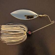 Bassdozer spinnerbaits SHORT ARM WILLOW 3/4 oz SUPER SILVER spinner bait lures