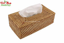 Made in Viet Nam Natural rattan/Cane/Woven Tissue Box Cover Holder Rectangle