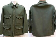 Vintage 1940s PENNEY'S Green Wool Mackinaw Hunting Shirt Jacket - Men's M