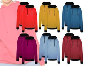 Womens 2 Pack Oversized Loopback Hoodie Loose Sweatshirt Hoody Loungewear Top