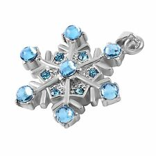 Stainless Steel Snowflake Cremation Pendant Urn Jewelry FREE SHIPPING         BL