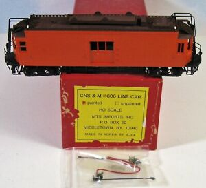 """Chicago North Shore & Milw  """"LINE CAR #606""""  MTS IMPORTS AJIN   HO Brass 1994 VG"""