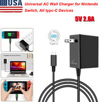AC Adapter Power Supply Wall Charger For Nintendo Switch Dock & Pro Controller