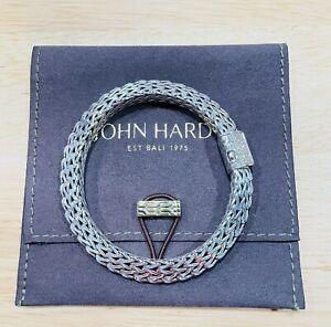"John Hardy 7.5"" Diamond Sterling Silver Chain Bracelet, 8mm, Free Shipping"