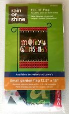"New listing Merry Christmas 12.5"" X 18"" Garden Flag 27-2843-46 Flip It! Rain Or Shine Fall"
