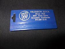 Helgeson Buick Riverside CA Dealership Plastic Key Chain Logo Emblem Key Ring