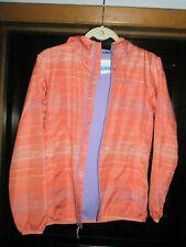 Columbia Hooded Orange Windbreaker Jacket Large Girls Youth
