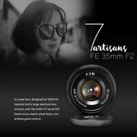 7artisans 35mm F2.0 Black Manual Focus Lens For Sony E-mount A7 A7R A7II A7RII
