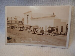 SCARCE 1915 RPPC REAL PHOTO POSTCARD MAIN STREET WINGAR WISCONSIN PRESQUE ISLE