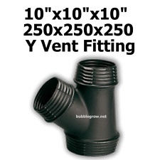 """10""""X10""""x10"""" 250X250X250 Y DUCTING PIECE JOINER AIR COOLING VENTILATION FAN DUCT"""