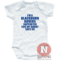 Naughtees clothing BLACKBURN ROVERS funny cute football babygrow baby suit vest