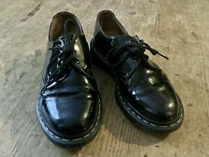 DOC MARTENS Ladies Black Patent Leather Shoes - Size 4 UK