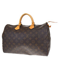 Auth LOUIS VUITTON Speedy 35 Travel Hand Bag Monogram Leather M41524 88MD716