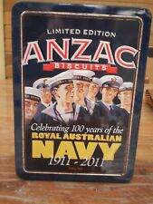 LIMITED EDITION ANZAC BISCUIT TIN -CELEBRATING 100 YEARS OF THE AUSTRALIAN NAVY