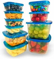 Mr. Lid Premium Attached Storage Containers | Permanently Attached Plastic Lid,