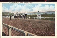 Horse Racing Tijuana Mexico Ready For Start c1920 Postcard
