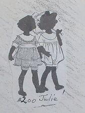 """Vintage Orig FRANKI'S Antique or Repro Doll  Clothes Pattern Julie 11""""-29"""""""