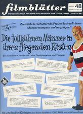 filmblätter Nr. 48 1965 Die tollkühnen Männer fliegenden Kisten Gert Fröbe Kino