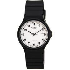 Casio MQ24-7B Men's Classic Casual White Dial Black Resin Strap Watch