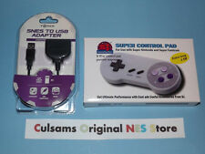 NEW SUPER NINTENDO SNES CONTROLLER & SNES TO USB ADAPTER WITH A 30 DAY GUARANTEE