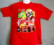 Ferrari F1 Vintage Felipe Massa Brazilian Flag Cotton Tee Shirt Medium M Only