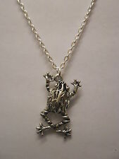 """Hollow Filigree Frog Toad Pendant With 18"""" Silver Plated Necklace"""