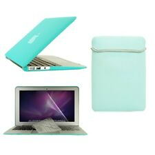 """4in1 Hot BLUE Rubberized Case for Macbook Air11"""" (A1370 and A1465) +Key +LCD+Bag"""