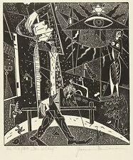HERMANN NAUMANN - Zu Franz Kafka - Das Schloß - Holzschnitt 1960