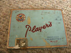 VINTAGE PLAYER'S NAVY CUT CIGARETTES TIN PARTIAL TAX STAMP