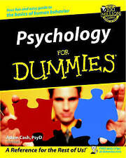 """VERY GOOD"" Psychology for Dummies, Cash, Adam, Book"