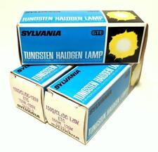 Lot of 3 ETC Tungsten Halogen Projector Lamp Bulbs 150W 120V Sylvania USA NOS