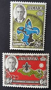 Jamaica - 1952 - Sc 150 - 51 - !st Caribbean Boy Scout Jamboree VF MH
