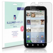 iLLumiShield Matte Screen Protector w Anti-Glare/Print 3x for Motorola DEFY