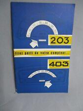 AL880 PEUGEOT NOTICE ENTRETIEN 203/403 BON ETAT